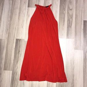 Braided Neckline Swing Dress